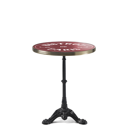 "Lawn tables - ARDAMEZ • TRADITION Enamel bistro table / Black / Brass Model ""Bistrot de Paris"" - ARDAMEZ"