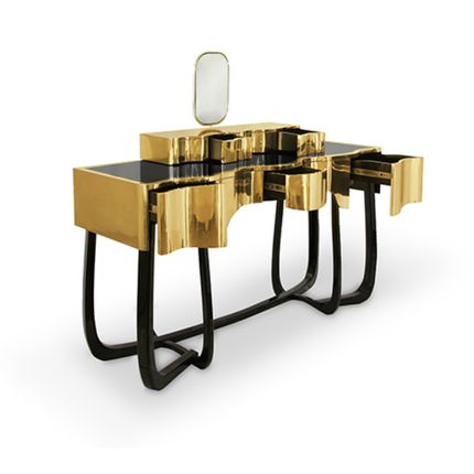 Tables consoles - Coiffeuse Sinuous - MAISON VALENTINA
