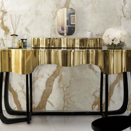 Console tables - Sinuous Dressing Table - MAISON VALENTINA