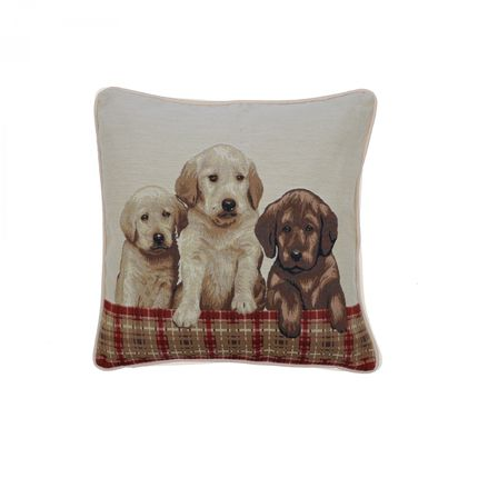 Cushions - coushion cover motif 3 dogs - NEW SEE SARL