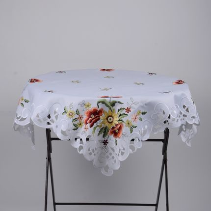 Linge de table - napperon brodé motif fleur - NEW SEE SARL