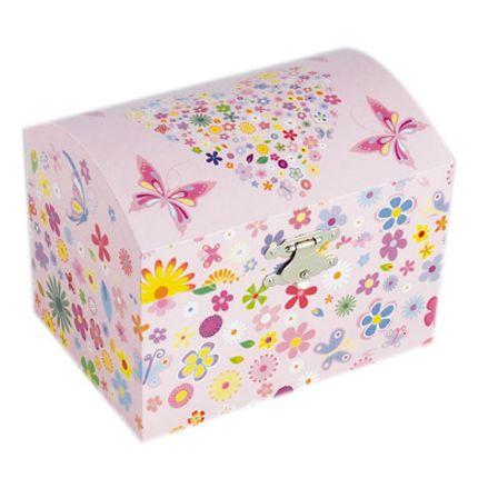 Decorative items - Jewelry chest flowers and butterflies - LE MONDE DE LA BOÎTE À MUSIQUE