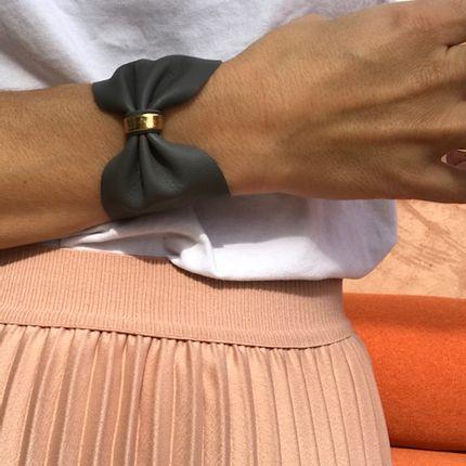 Bijoux - Manchette en cuir  - LITTLE MADAME
