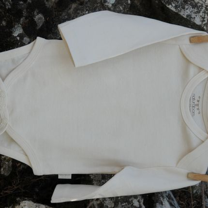 Homewear - Organic Cotton Baby Long Sleeve Bodysuit  - NATURABORN
