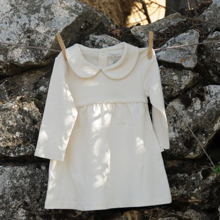 Homewear - Organic Cotton Baby Crochet Dress - NATURABORN