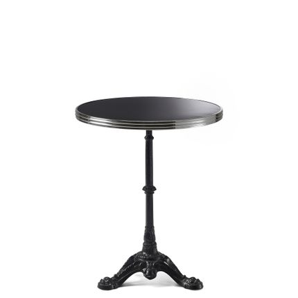 Lawn tables - ARDAMEZ • TRADITION Enamel bistro table / Deep Black - ARDAMEZ