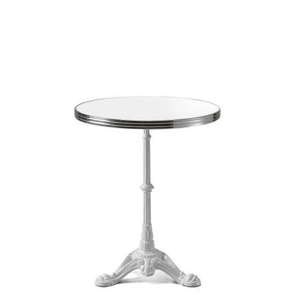 Tables pour hotels - ARDAMEZ • TRADITION Table de bistrot émaillée - Edition Blanc Pur et cuivre - ARDAMEZ