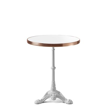Tables for hotels - ARDAMEZ • TRADITION Enamel bistro table / White Edition - ARDAMEZ