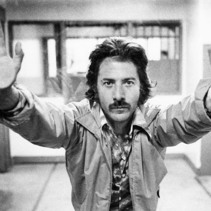 Art glass - Dustin Hoffman On Set - GALERIE PRINTS