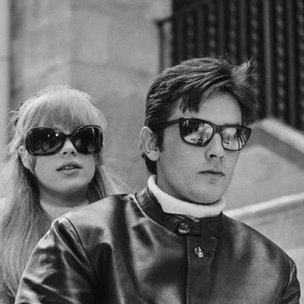 Art photos - Trop Cool - Alain Delon & Marianne Faithfull  - GALERIE PRINTS