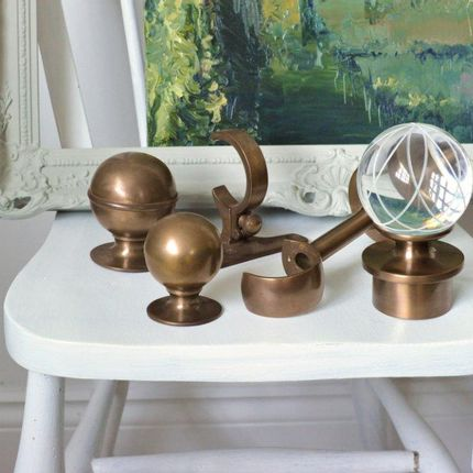 Rideaux / voilages - Poteau de rideau classique en laiton antique - Tillys