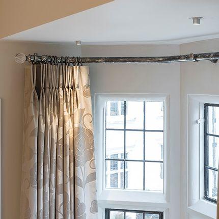 Rideaux / voilages - Classique Antique Nickel Curtain poteau - Tillys