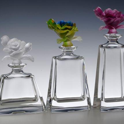Gift - VASE BUTTERFLY - AMBER - CRISTAL DE PARIS