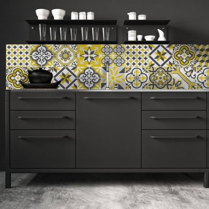 Design - Crédence Carreaux de Ciment - Ginette - CIMENT FACTORY