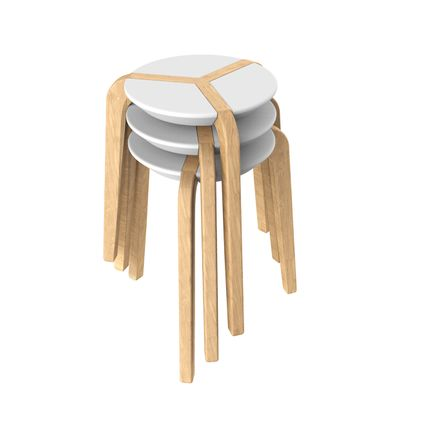 Design objects - WHITE STOOL - BOULON BLANC