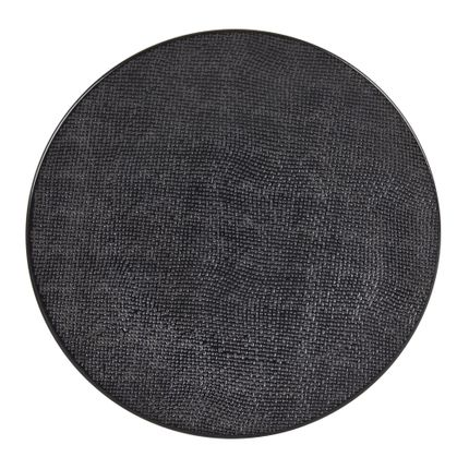Everyday plates - ASSIETTE PLATE 27 CM VESUVIO NOIR - TABLE PASSION - BASTIDE