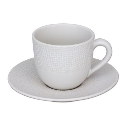Tasses et mugs - P/TASSE 12 CL CAFÉ VESUVIO BLANC - TABLE PASSION - BASTIDE