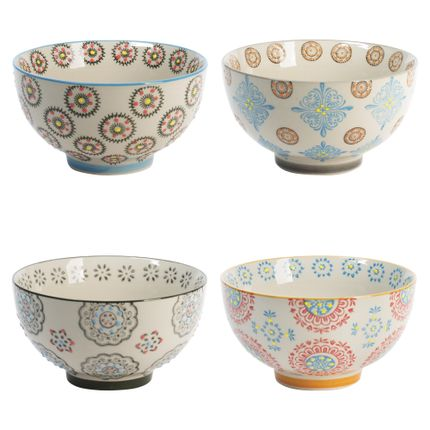 Bowls - COFFRET 4 BOLS 14 CM BOHEME - TABLE PASSION - BASTIDE