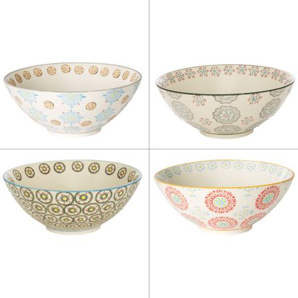 Platter, bowls - MINI SALADIER 23 CM ASSORTI BOHEME - TABLE PASSION - BASTIDE