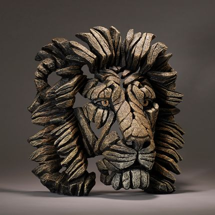Sculpture - Lion Bust - Edge Sculpture - EDGE SCULPTURE