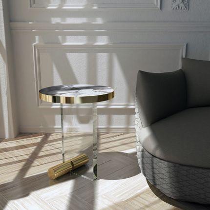 Tables basses - KANDINSKY | Side Table Round Acrylic - Calacatta - OIA  DESIGN