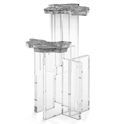 Tables - MONET SILVER Side Table - BOCA DO LOBO