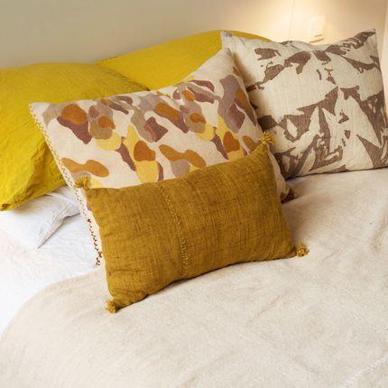 Cushions - VEGETABLE INK ON LAMA-MERINO WOOL - TRHANDY // ANDI ART