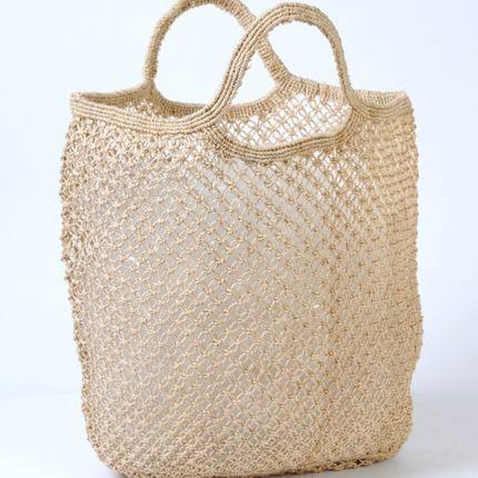Sacs / cabas - Sac de shopping macramé en toile de jute naturel - MAISON BENGAL