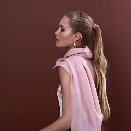Scarves - Rose Cashmere & Lace scarf |  Florenz Pashmina  - FLORENZ