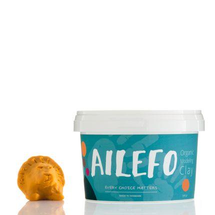 Toys - Ailefo Organic Modeling Clay, yellow big tub - AILEFO