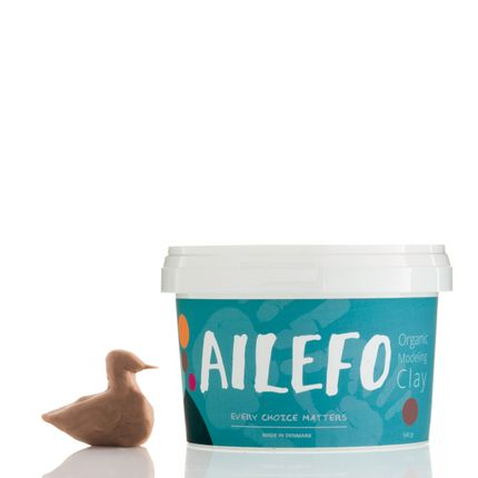Toys - Ailefo Organic Modeling Clay, brown, big tub - AILEFO