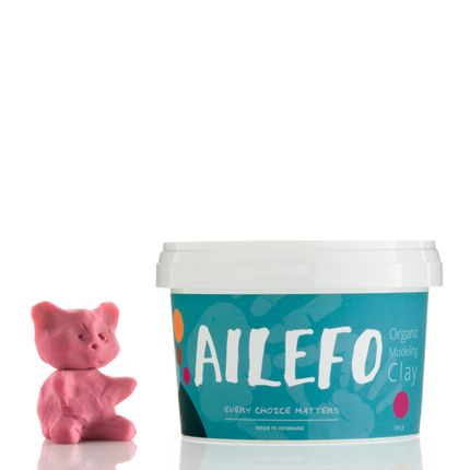 Toys - Ailefo Organic Modeling Clay, red big tub - AILEFO