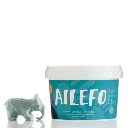 Toys - Ailefo Organic Modeling Clay, blue, big tub - AILEFO