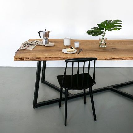 Tables - Table Hamburg en chêne - Live Edge  - FOR ME LAB