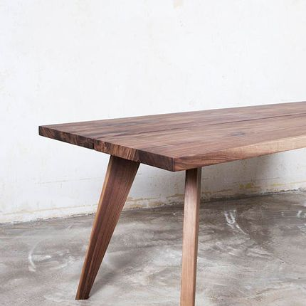 Tables - Walnut table Amber - wooden legs - FOR ME LAB