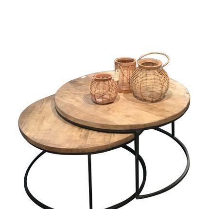 Tables basses - SET *2 COFFE TABLES IRON&MANGO - TALLER DE LAS INDIAS