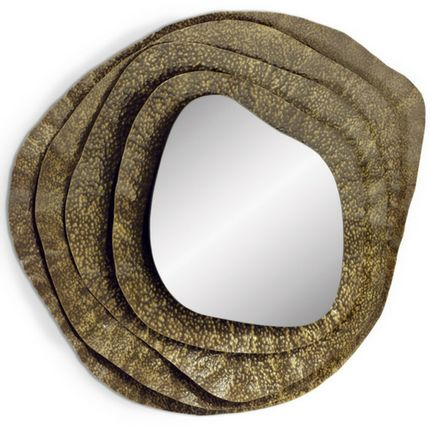 Mirrors - KUMI Small Round Wall Mirror - BRABBU DESIGN FORCES
