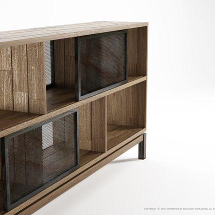 Buffets - Color Bebop Sideboard 4 Sliding Doors 6 Compartments - KARPENTER