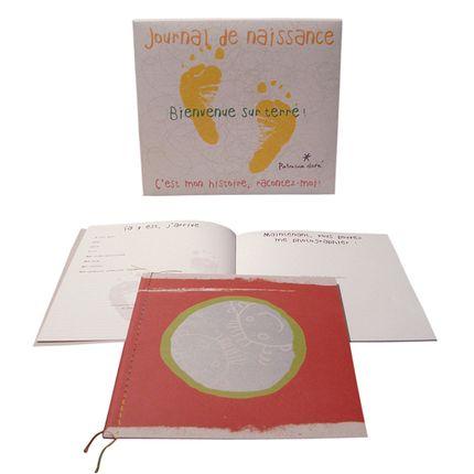 Papeterie - journal de naissance recyclé - PATRICIA DORÉ