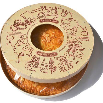 """Cookies - """"BROYÉ DU POITOU"""" SHORTBREAD WOODEN BOX - GOULIBEUR"""