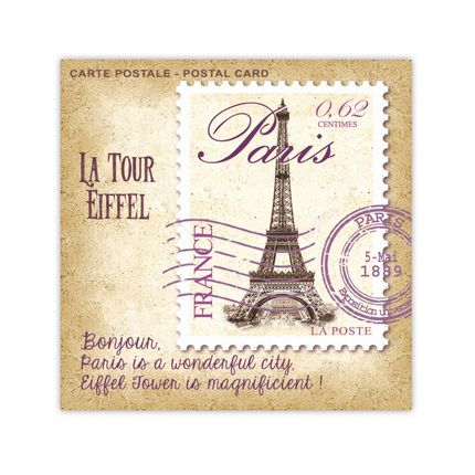 Parfums d'intérieur - SACHET PARFUME CARTE POSTALE PARIS LE BLANC (Pivoine) - LE BLANC