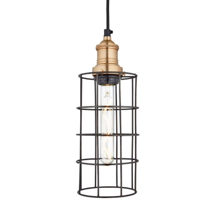 Suspensions - Brooklyn Wire Cage Pendant - 5 Inch - Cylinder - INDUSTVILLE