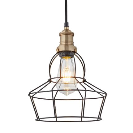 Pendant lamps - Brooklyn Wire Cage Pendant - 8 Inch - Rose - INDUSTVILLE