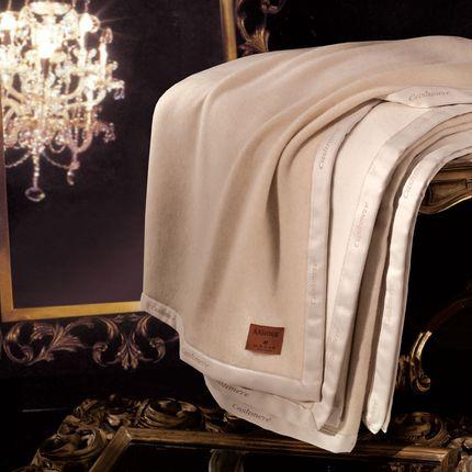 Bed linens - BLANKET 100% KASHMIR - MANIFATTURA LOMBARDA SRL