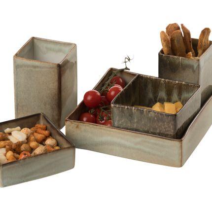 Assiettes de reception - stoneware tapas plates - BELLINO DULCE FORMA