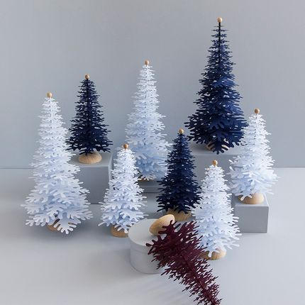 Christmas decoration - Christmas tabletop paper ornaments - FABGOOSE
