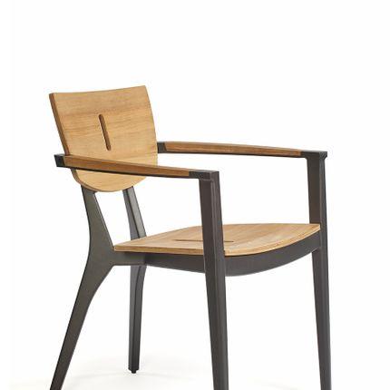 Fauteuils de jardin - Diuna armchair teak/aluminium - OASIQ