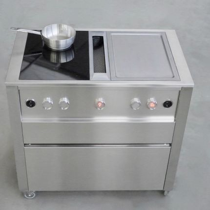 Trolley - CUN cooking station with BORA Professional 2.0 - JOKODOMUS