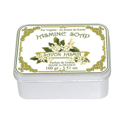 Soaps - Tin Box 100g Soap JASMINE - LE BLANC