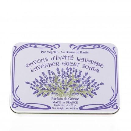 Soaps - Guest Soap Tin Box / 6 x 25G - LE BLANC